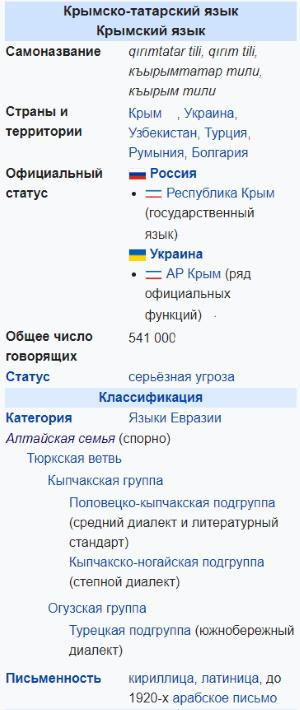 Крымско-татарский язык
