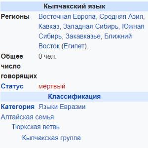 Кыпчакская группа