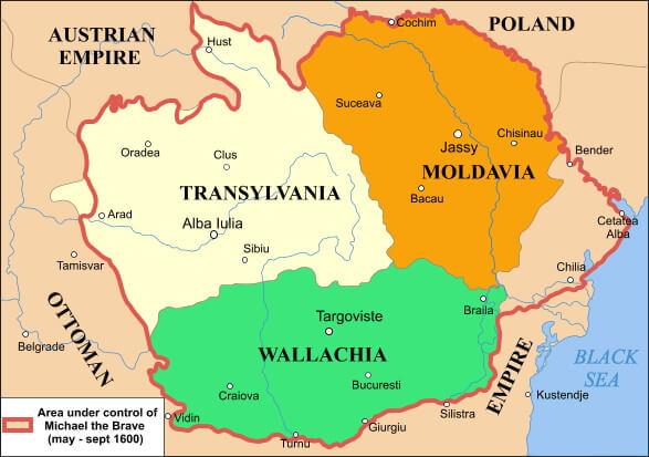 Валахия на карте