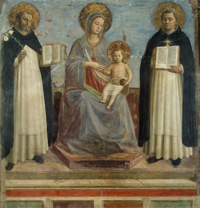Фреска Мадонны с младенцем
