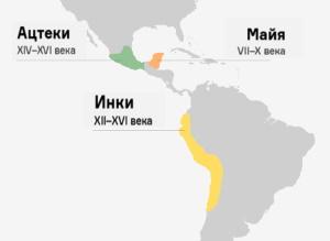 Где жили ацтеки, инки, майя