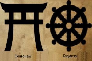Символы синтоизма и буддизма