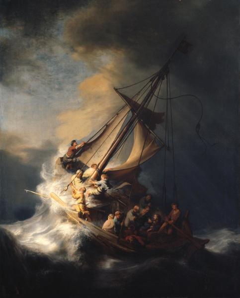Христос во время шторма