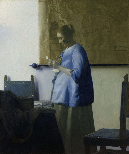 Женщина, читающая письмо