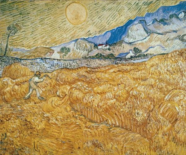 Пшеничное поле со жнецом