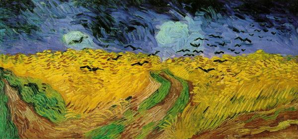 Пшеничное поле с воронами